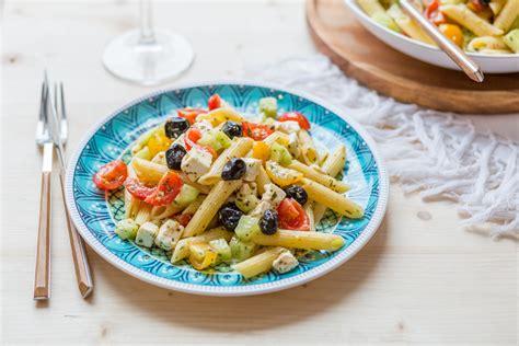 cuisine grecque salade de penne à la grecque cuisine addict cuisine
