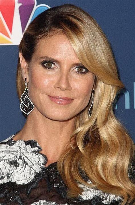 Heidi Klum Celebrity Beauty Warm Blonde Old Hollywood