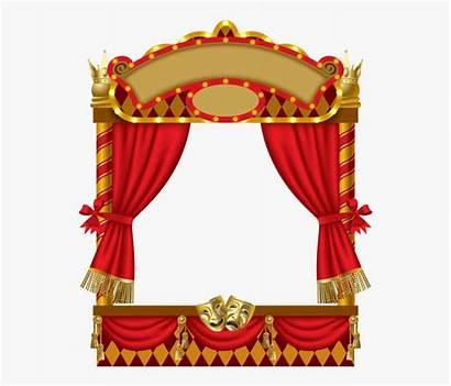 Theater Puppet Theatre Frame Cartoon Vector Transparent
