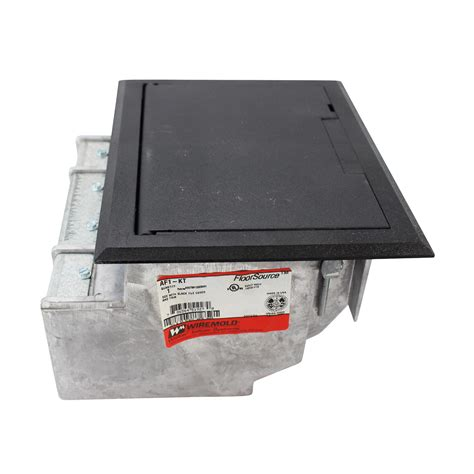 Wiremold Floor Box Cover Colors by Wiremold Legrand Af1 Kt Raised Floor Box With Black Tile