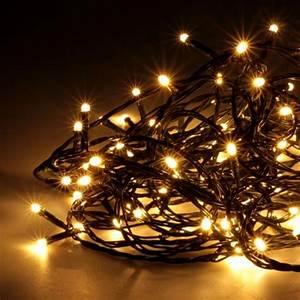 Guirlande Electrique Noel : guirlande lumineuse noel 100 led blanc chaud badaboum ~ Teatrodelosmanantiales.com Idées de Décoration