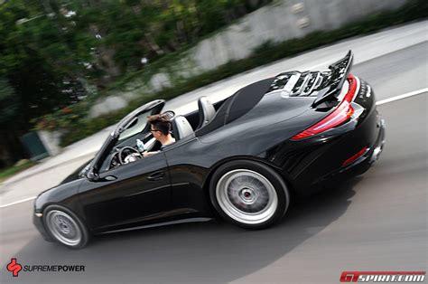 porsche 911 carrera gts spoiler vorsteiner porsche 991 carrera 4s cabrio v gt by supreme