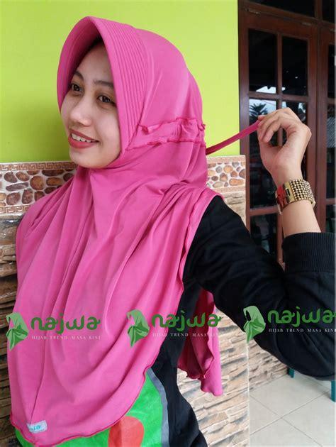gaya terbaru model hijab instan   model hijab