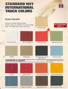 Car Paint Colors Chart 1977 International Truck Standard Colors International