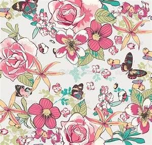 depositphotos_23226784-seamless-vintage-flower-pattern ...
