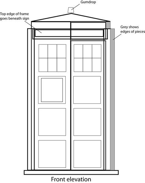 Tardis Template For Cake by How To Make A Gingerbread Tardis With Doctor Tardis