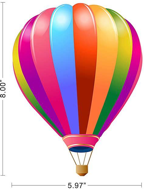 hot air balloon shape kids children room wall decal