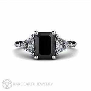 platinum black diamond rings wedding promise diamond With black stone wedding rings