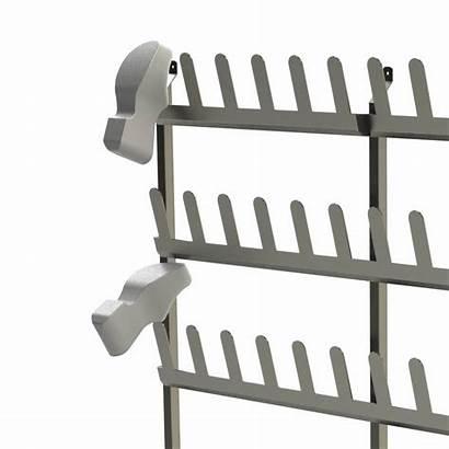 Shoe Wall Mounted Rack Racks Steel Storage