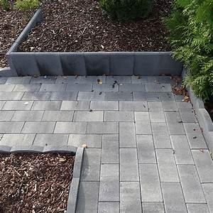 L stein mini 25 x 20 x 35 cm anthrazit bauhaus for Garten planen mit pflanzkübel 50 x 50 cm