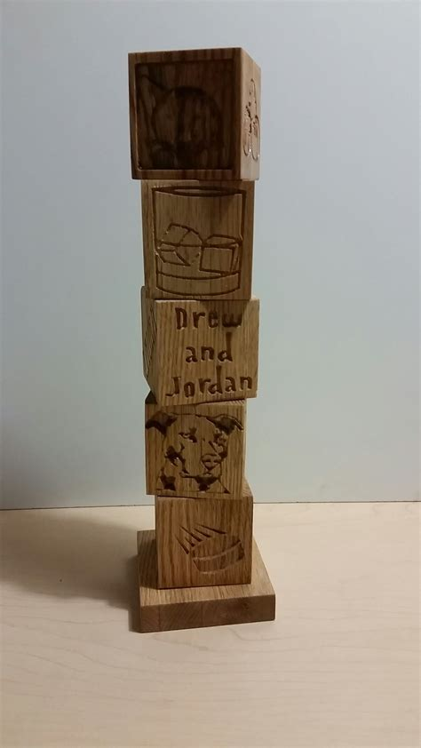 handmade custom family totem pole  queen   mediums