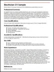 electrician resume sle format electrician cv sle myperfectcv