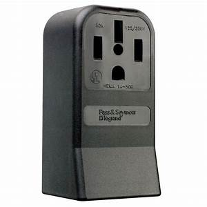 Ge 50 Amp Temporary Rv Power Outlet-u054p