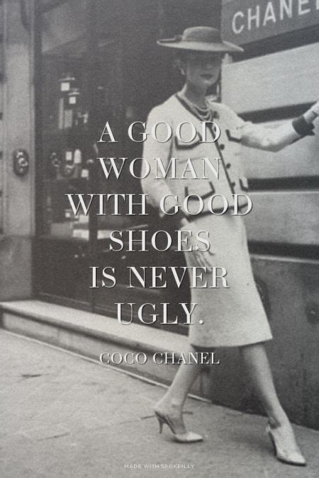 good woman  good shoes   ugly coco chanel eva    spokenly jo
