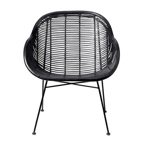buy bloomingville lounge braided rattan chair black amara