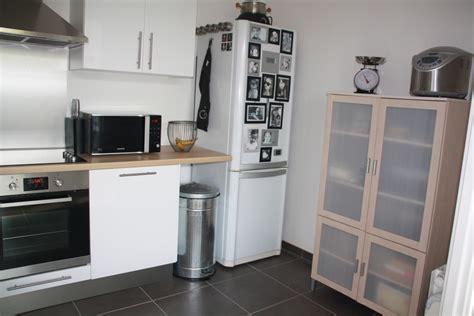 cuisine ikea blanche et bois cuisine blanche bois et inox photo 2 6 3509187
