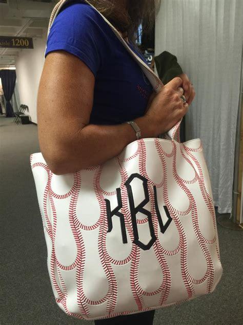 monogrammed baseball tote bag perfect  baseball moms