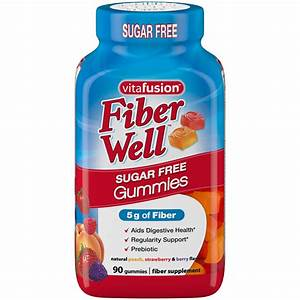 Fiber Gummies  Peach  Strawberry  Blackberry 90 Gummies