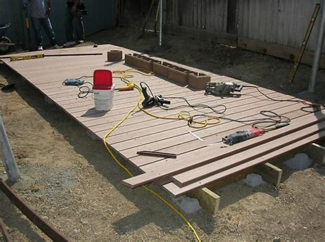 12x12 Platform Deck Plans by How To Build A Floating Deck How Tos Diy