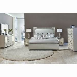 Bel Air Park Upholstered Nightstand In Champagne By AICO