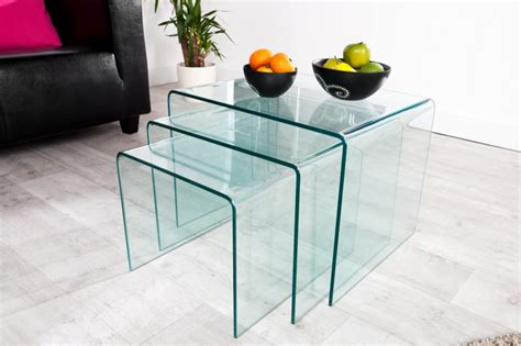 Image Sofa Set by Couchtisch Ghost 3er Set Glas 22864 3924