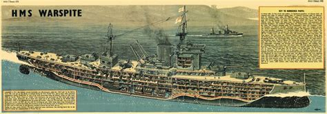 battleship hms warspite cutaway   walkden fisher ship