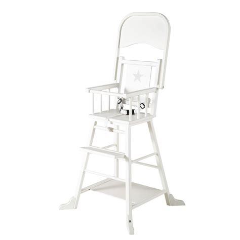 chaise haute bois bébé chaise haute pour bébé en bois blanche songe maisons du