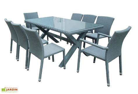 table et chaise de jardin en resine tressee awesome table de jardin resine tressee extensible