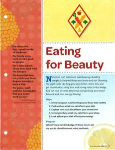 Eating for Beauty Badge Girl Scouts Cadette
