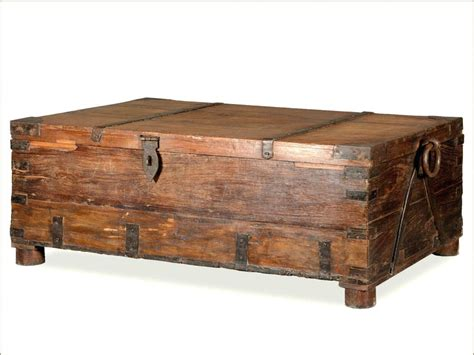 Chest Style Coffee Table Living Trunk Wooden Ches On