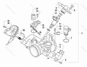 Arctic Cat Atv 2009 Oem Parts Diagram For Throttle Body