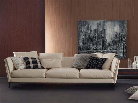 Buy The Poltrona Frau Bretagne Three Seater Sofa At Nest.co.uk