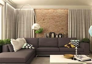 Vorhänge Wohnzimmer Grau : modernes wohnzimmer mit dunklem sofa einrichten 55 ideen ~ Sanjose-hotels-ca.com Haus und Dekorationen