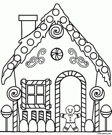 cardboard house to color printable gingerbread house coloring pages coloring home