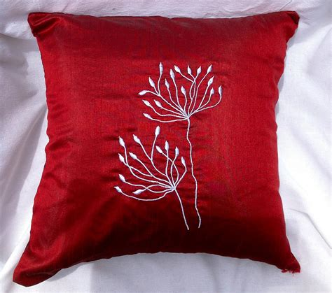 red decorative pillows  couch bloggerluvcom