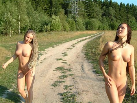 Two Busty Girls With Dreadlocks Plays Naked Outdoors