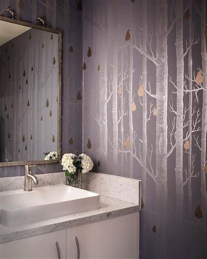 Powder Silver Tree Bathroom Hgtv Rooms Bender