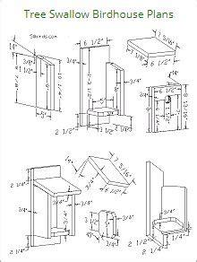 tree swallow birdhouse plans bird houses bird house kits bird house plans