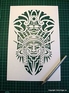 personal use paper cutting template a4 aztec mask by With aztec mask template
