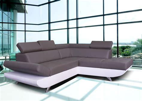 canapé d angle rue du commerce canapé d 39 angle simili cuir blanc pas cher