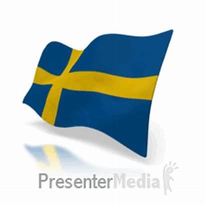 Flag Sweden Animated Animation 3d Waving Flying