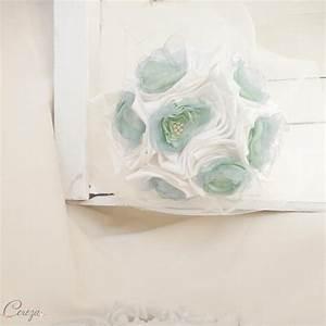 Bleu Vert D Eau : bouquet de mari e en tissu satin organza et perles ivoire ~ Preciouscoupons.com Idées de Décoration