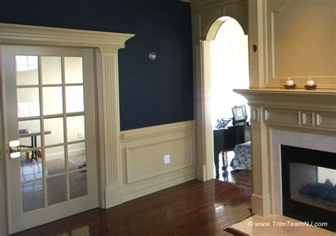 wainscoting ideas for living room wainscot and picture frames traditional living room by trim team nj