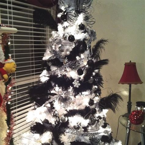 zebra christmas tree   home pinterest