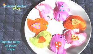 Pajaritos baby en papel crepe Manualidades con papel crepe Video