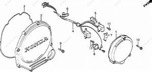 Honda Motorcycle 1983 Oem Parts Diagram For Clutch Cover