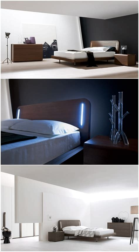cool bed designs  built  lights
