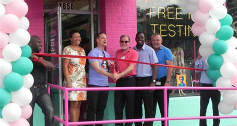 aids healthcare foundation opens out of the closet thrift