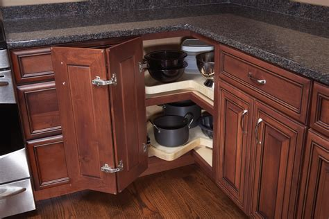 kitchen lazy susan cabinet smart organization woodland cabinetry 5318