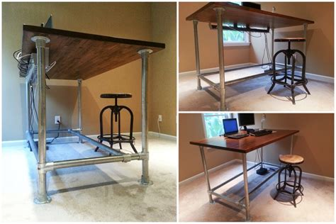 build a standing desk diy standing desk